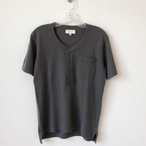Demylee Cashmere Short Sleeve Taupe Sweater